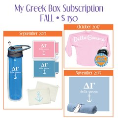 My Greek Box Subscription • Fall • Delta Gamma