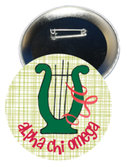 Alpha Chi Omega Logo Button
