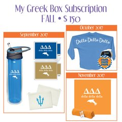 My Greek Box Subscription • Fall • Delta Delta Delta