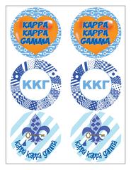 Kappa Kappa Gamma Sticker Sheet