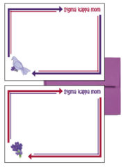 Sigma Kappa Mom Arrow Postcards