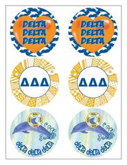 Delta Delta Delta Sticker Sheet