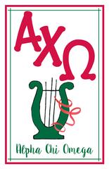 Alpha Chi Omega Logo Poster