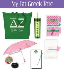 My Fat Greek Tote • Delta Zeta