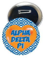Alpha Delta Pi Heart Button