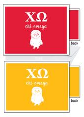 Chi Omega Logo Letter Notecards