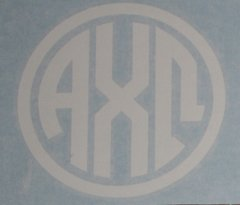 "Alpha Chi Omega Vinyl Decal - 5"" White Circle"