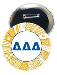 Delta Delta Delta Letters Button