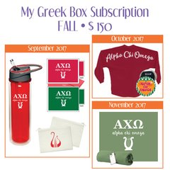 My Greek Box Subscription • Fall • Alpha Chi Omega