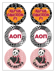 Alpha Omicron Pi Sticker Sheet