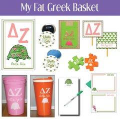 My Fat Greek Basket • Delta Zeta