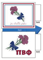 Pi Beta Phi Flower Notecards