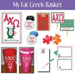 My Fat Greek Basket • Alpha Chi Omega