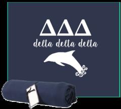 Delta Delta Delta Sweatshirt Blanket
