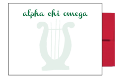 Alpha Chi Omega Background Postcards