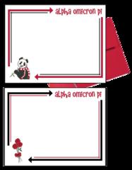 Alpha Omicron Pi Arrow Postcards