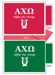 Alpha Chi Omega Letter Notecards