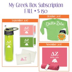 My Greek Box Subscription • Fall • Delta Zeta