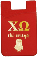 Chi Omega Logo Cell Phone Pocket