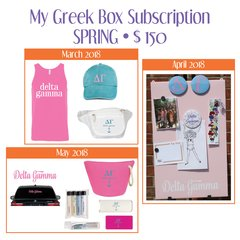 My Greek Box Subscription • Spring • Delta Gamma