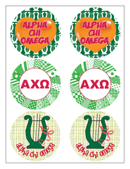 Alpha Chi Omega Sticker Sheet