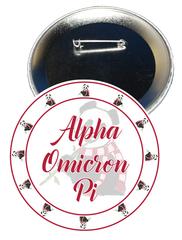 Alpha Omicron Pi Sorority Button
