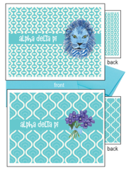 Alpha Delta Pi Logo Notecards