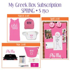 My Greek Box Subscription • Spring • Phi Mu