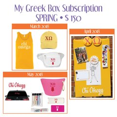 My Greek Box Subscription • Spring • Chi Omega