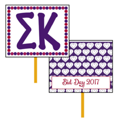 Sigma Kappa Bid Day Hand Fan
