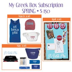 My Greek Box Subscription • Spring • Pi Beta Phi