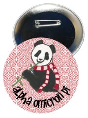 Alpha Omicron Pi Logo Button