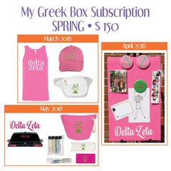 My Greek Box Subscription • Spring • Delta Zeta