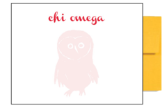Chi Omega Logo Background Postcards