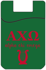 Alpha Chi Omega Cell Phone Pocket - Green