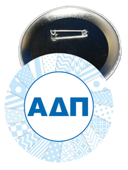 Alpha Delta Pi Letters Button