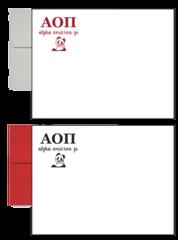 Alpha Omicron Pi Letter Postcards