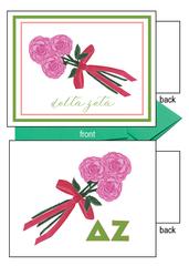 Delta Zeta Flower Notecards