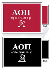 Alpha Omicron Pi Letter Notecards