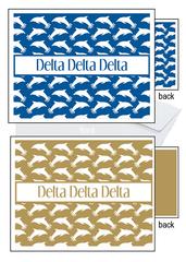 Delta Delta Delta Sorority Notecards