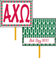 Alpha Chi Omega Bid Day Hand Fan