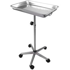 Dental Stainless Steel Mobile Tray Stand