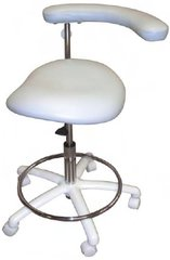 Model 2065 Dental Assistant Stool, Contoured Seat. Seamless Upholstery (Galaxy)