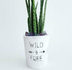 Cement Planter - Wild & Free