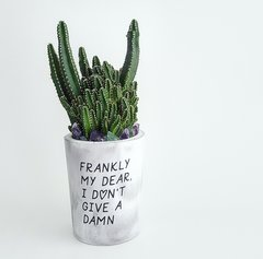 Cement Planter - Frankly My Dear, I Don't Give A Damn