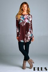 Walk in the Park Floral Top - Plus Size