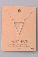 MUST HAVE Necklace - Triangle Silver