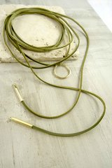 Around We Go Olive Choker Wrap Necklace