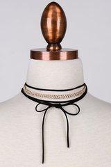 Black Rhinestone Choker Necklace