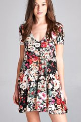 Stop and Smell the Roses Swing Dress